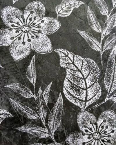 Detalhes do produto Tecido Suede Estampado Flores Branca