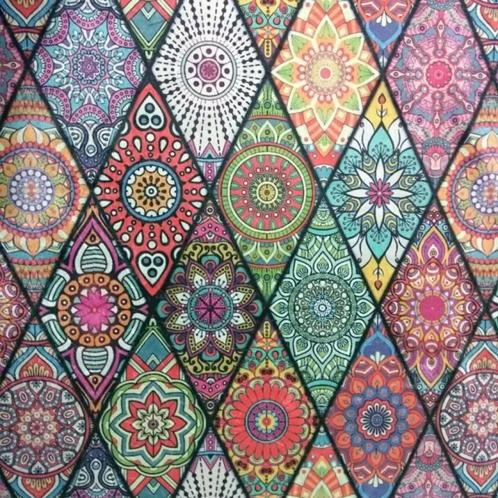 Tecido Suede Estampado Hippie 2 - Caseg