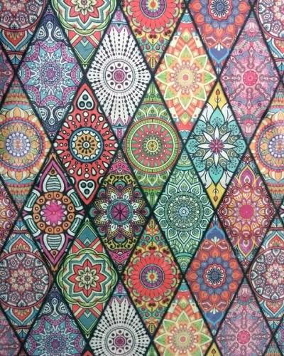 Detalhes do produto Tecido Suede Estampado Hippie 2
