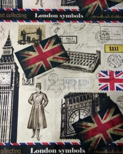 Detalhes do produto Tecido Suede Estampado Inglaterra 2