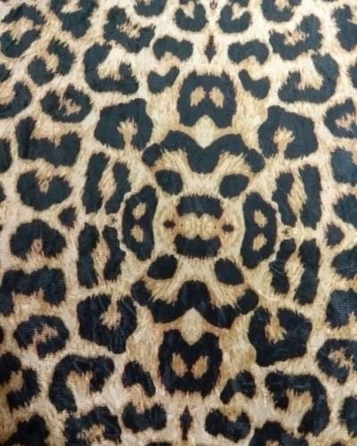 Detalhes do produto Tecido Suede Estampado Onça