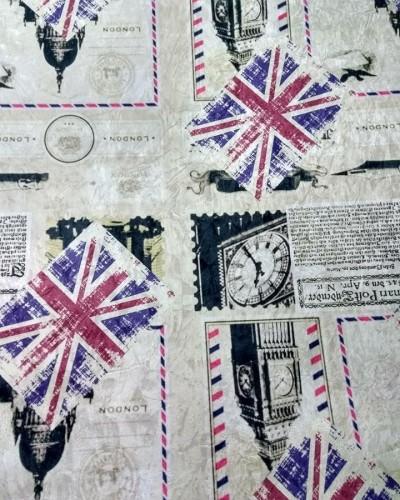 Ver o produto Tecido Suede Estampado Inglaterra