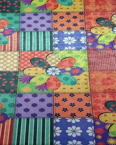 Detalhes do produto Tecido Sued Estampado Flores Coloridas