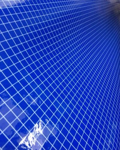 Detalhes do produto Verniz Quadriculado Azul