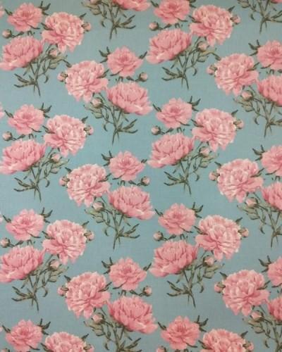 Detalhes do produto Tecido Fiama Flores Azul