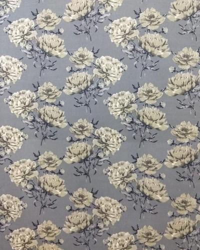 Ver o produto Tecido Fiama Flores Cinza